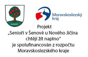 """Projekt """"Rekonstrukce veřejného osvětlení  v k. ú. Šenov u Nového Jičína, ul. Na Vyhlídce""""  je spolufinancován z rozpočtu Moravskoslezského kraje."""