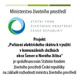 """Projekt """"Pořízení elektrického skútru kvyužití vkomunálních službách  obce Šenov u Nového Jičína"""""""